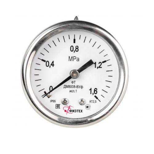 Виброустойчивые мановакуумметры - ДА8008-ВУф исп 1 ОШ
