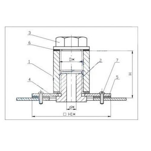 Закладные конструкции - ЗК4-1-10-95 (Фланец с бобышкой)