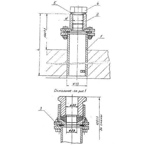 Закладные конструкции - ЗК4-1-12-95 (Труба с бобышкой)