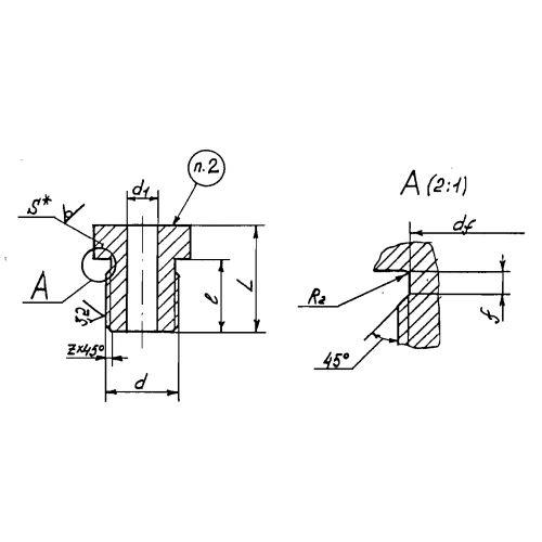 Закладные конструкции - ЗК4-1-21-95 (Штуцер)