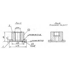 Закладные конструкции - ЗК4-1-23-95 (Бобышка с фланцем)