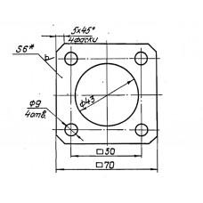 Закладные конструкции - ЗК4-1-29-95 (Фланец)