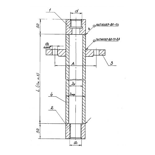 Закладные конструкции - ЗК4-1-30-95 (Труба защитная)