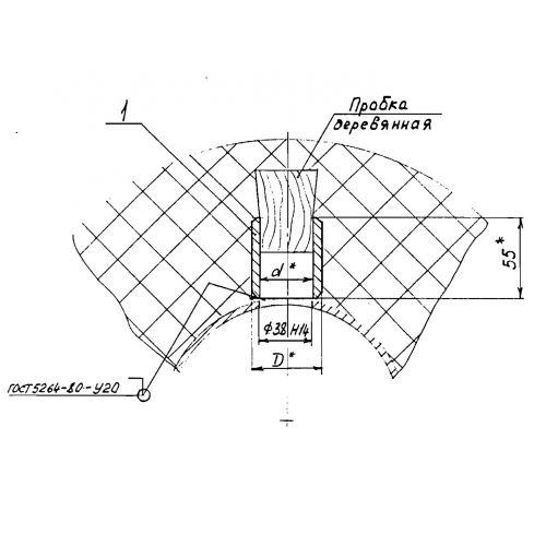 Закладные конструкции - ЗК4-1-4-95 (Бобышка)