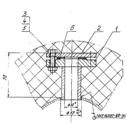 Закладные конструкции - ЗК4-1-5-95 (Патрубок с фланцем)