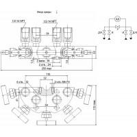 Пятивентильные клапанные блоки - БКН5-115-03