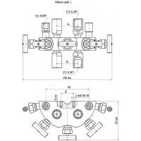 Пятивентильные клапанные блоки - БКН5-115-06