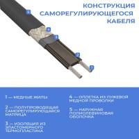 Греющий кабель снаружи трубы - SRL 16-2CR